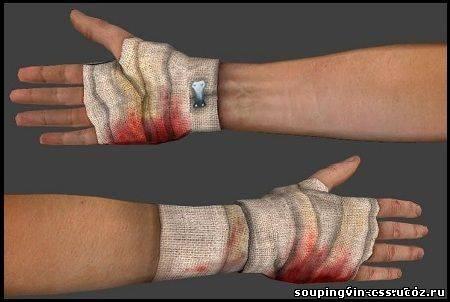 Как сделать руки в бинтах 831